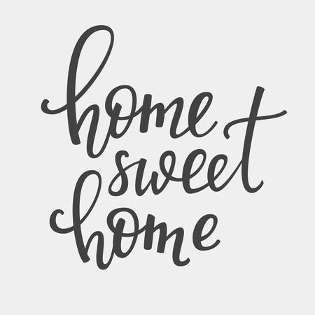 Home Sweet Home Vektor-Schriftzug. Motivzitat. Inspiration Typografie. Kalligraphie Postkarte Poster Grafik-Design-Schriftzug Element. Handgeschriebene Zeichen. Dekoration Element.