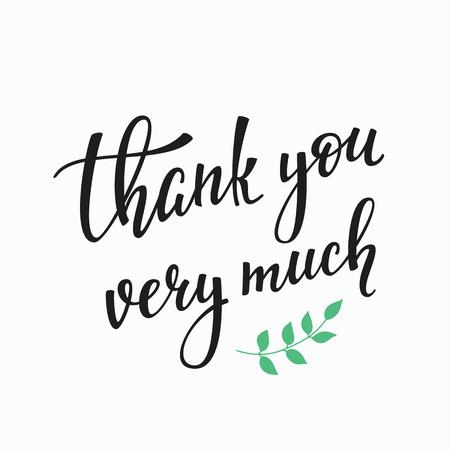 ありがとう友情家族の肯定的な引用感謝祭レタリング。書道ポストカードやポスター グラフィック デザインのタイポグラフィ要素。手書きのベクト