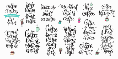 great coffee: Quote coffee cup typography. Calligraphy style sign. Shop promotion motivation. Graphic design lifestyle lettering. Sketch hot drink mug inspiration vector.
