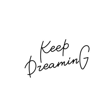 Keep going quote lettering. Calligraphy inspiration graphic design typography element. Hand written postcard. Cute simple black vector sign letters geometric rough style print Иллюстрация