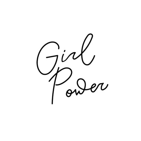 Girl power quote feminist lettering. Calligraphy inspiration graphic design typography element. Hand written card. Simple vector sign Protest patriarchy sexism misogyny female Иллюстрация