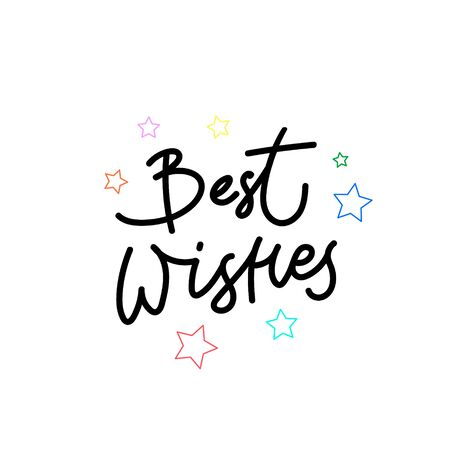 Best wishes enjoy quote lettering. Calligraphy inspiration graphic design typography element. Hand written postcard. Cute simple black vector sign letters flourishes point