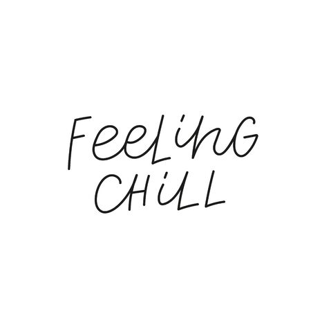 Feeling chill quote lettering. Calligraphy inspiration graphic design typography element. Hand written postcard. Cute simple black vector sign. Geometric simple forms background. Stockfoto - 149380645