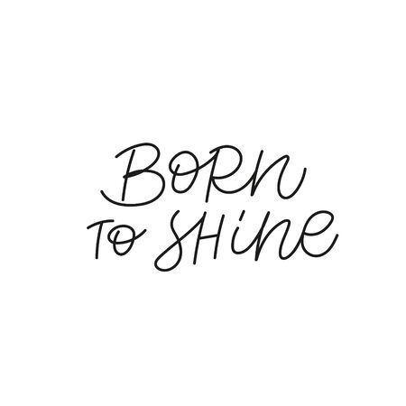 Born to shine quote lettering. Calligraphy inspiration graphic design typography element. Hand written postcard. Cute simple black vector sign. Geometric simple forms background. Stockfoto - 149380648