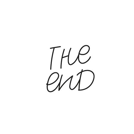 The end quote lettering. Calligraphy inspiration graphic design typography element. Hand written postcard. Cute simple black vector sign. Geometric simple forms background. Stockfoto - 149380651