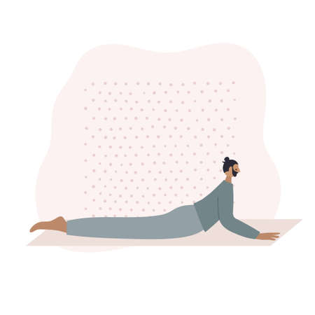 Yoga studio asana pose people vector illustration