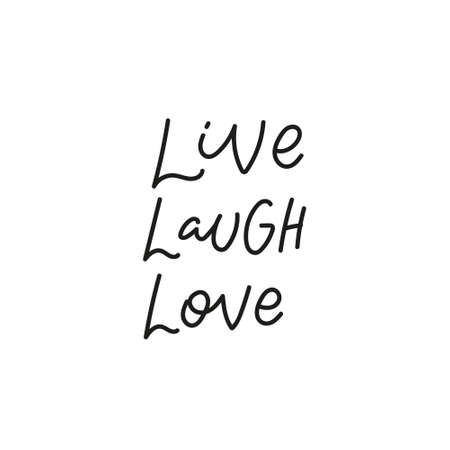 Live Laugh Love quote simple lettering sign Vectores