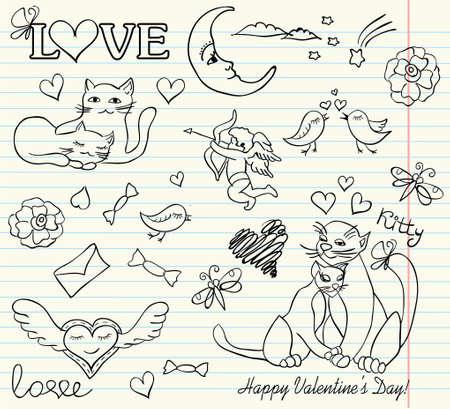 valentine sketch Stock Vector - 12167043