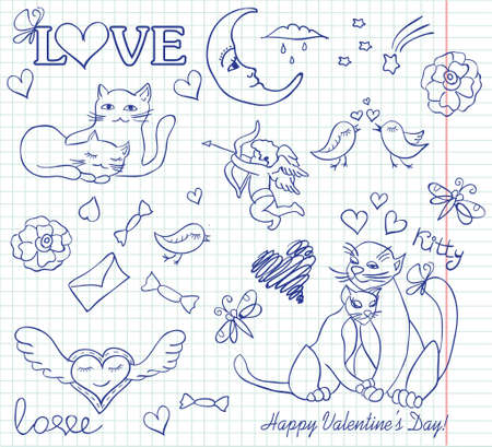valentine sketch Vector