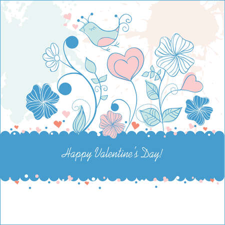 birth day: valentine day card  Illustration