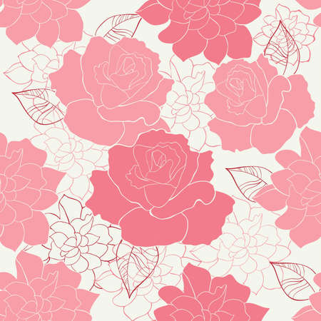 pretty: seamless rose Illustration