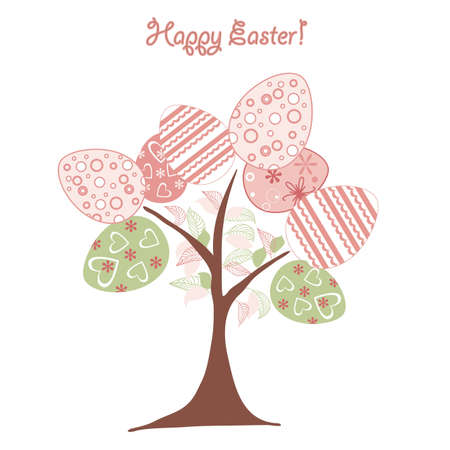 easter background tree Vector
