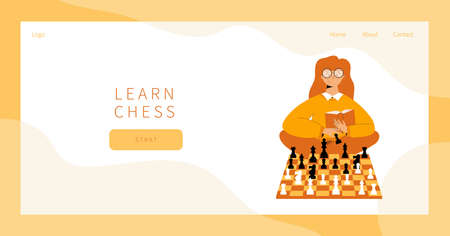 Learn chess landing page.