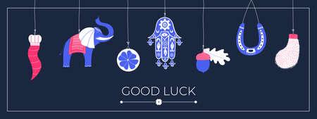 Good Luck banner Vecteurs