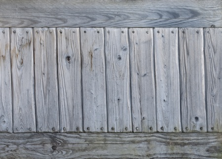 Background of old gray weathered knotted wooden wall  Stock Photo