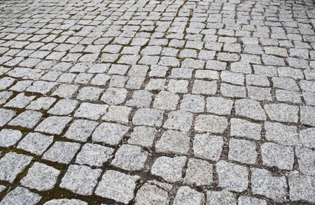 Street  cobbled  with granite
