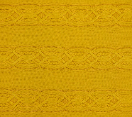 Yellow knitted pattern, texture photo
