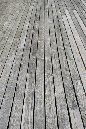 Aged gray wooden terrace floor photo