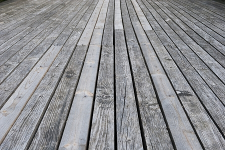 Aged gray wooden terrace floor Stock Photo - 15890078