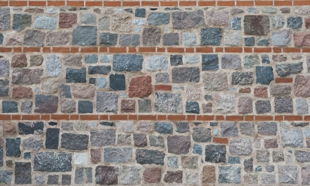 Background of granite stone wall texture  Stock Photo