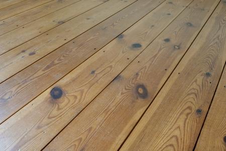 Brown wooden terrace floor
