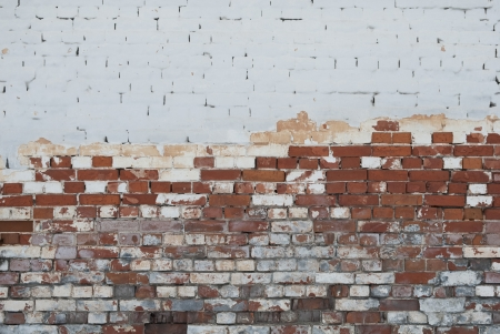 Background of vintage brick wall with  stucco texture