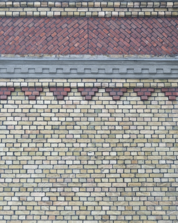 Background of vintage brick wall with pattern Stock Photo - 17514638