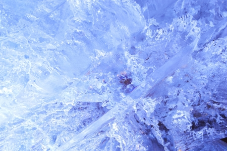 crazing: Texture of ice  with blue back light  Abstract background  Stock Photo