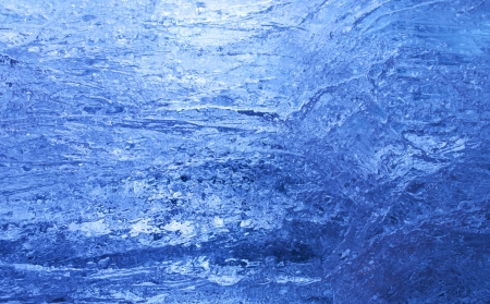 Texture of ice  with dark blue back light  Abstract background  Stock Photo