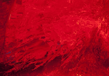 Texture of ice  with dark red back light  Abstract background