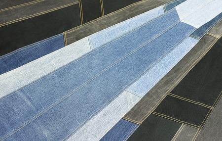 Background  denim patchwork texture, jeans