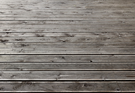 Gray wooden outdoor terrace floor as background photo