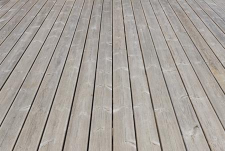 Old wooden outdoor terrace floor as background