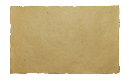 handmade paper: Handmade paper sheet on white isolated background, texture