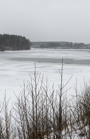 River Yagala in Estonia during winter