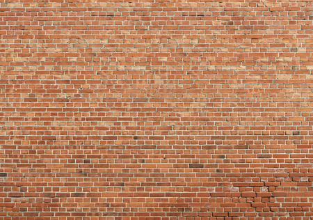 Background of old vintage brick wall, texture Stock Photo
