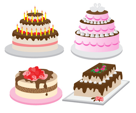 Collection of sweet festive cakes