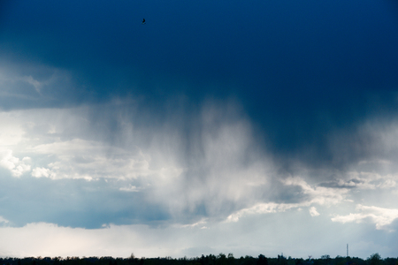 The rain comes from the cloud, Dark Sky