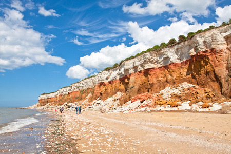 panorama of the layered cliffs at Hunstanton Imagens