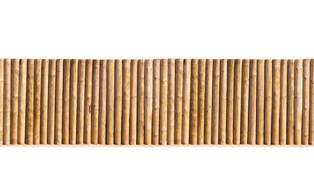 guard rail:  half round post and rail fence isolated horizontal seamless image Stock Photo