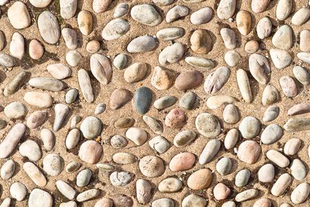 white pebble: white  pebble stones on concrete texture seamless endless pattern