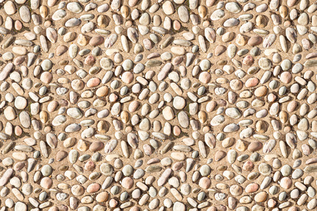 endless: white  pebble stones on concrete texture seamless endless pattern