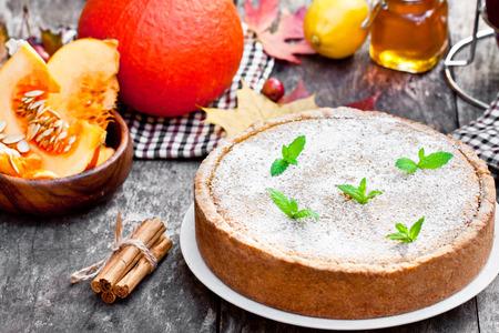 Delicious pumpkin pie with cinnamon Stock Photo