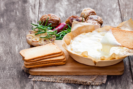jacked: Delicious  baked camembert with roasted potato and toast