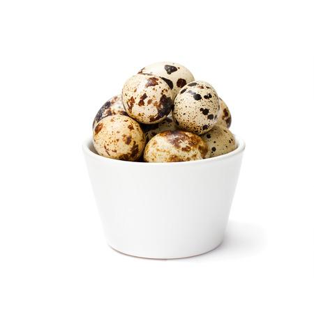 quail egg: Fresh  quail egg in a bowl isolated