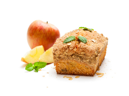 Homemade  healthy oat and apple loaf bread