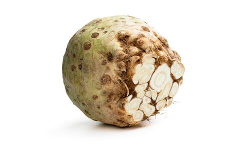 Fresh  celery root isolated on white  Stock Photo