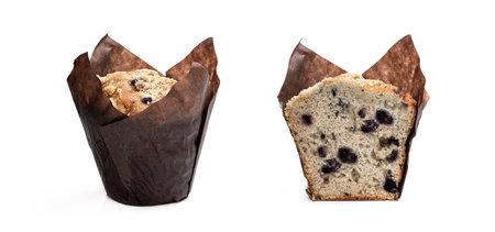 Blueberry muffins isolated on white background Reklamní fotografie