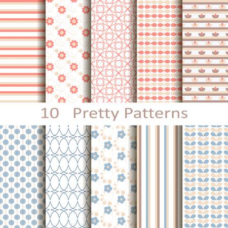 Set of ten pretty patterns