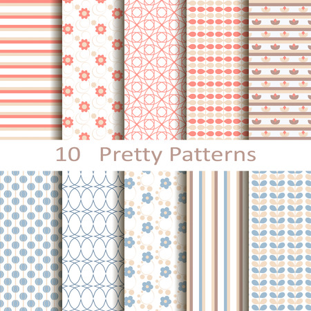 Set of ten pretty patterns Stock fotó - 30684013